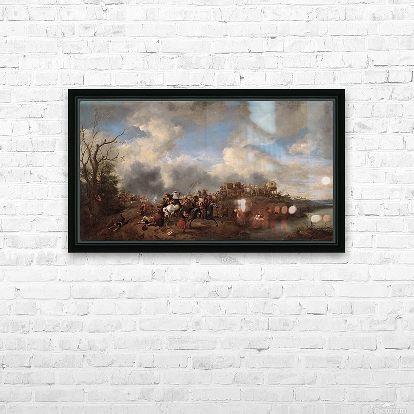 A cavalry battle HD Sublimation Metal print with Decorating Float Frame (BOX)