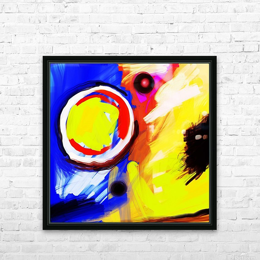 Abstract Mess_OSG  HD Sublimation Metal print with Decorating Float Frame (BOX)
