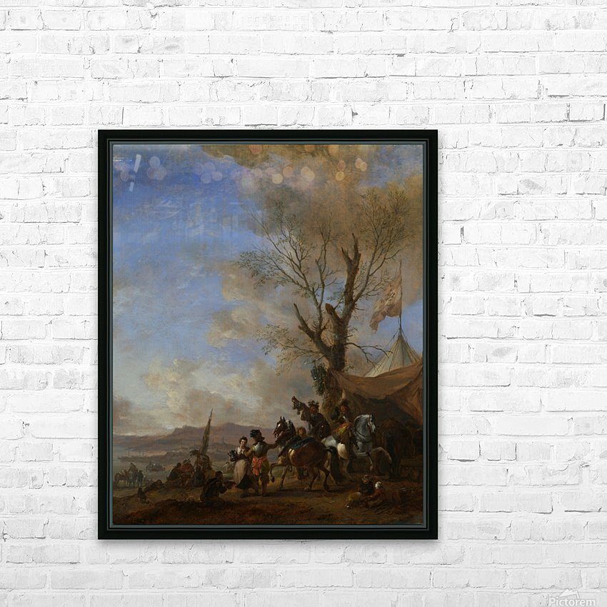 Cavalrymen halted at a Sutlers Booth HD Sublimation Metal print with Decorating Float Frame (BOX)