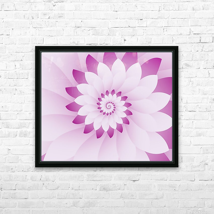 Abstract Pink & White Floral Design Art HD Sublimation Metal print with Decorating Float Frame (BOX)