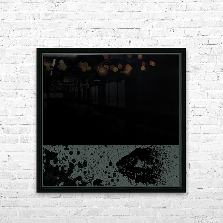 Abstract Girl HD Sublimation Metal print with Decorating Float Frame (BOX)