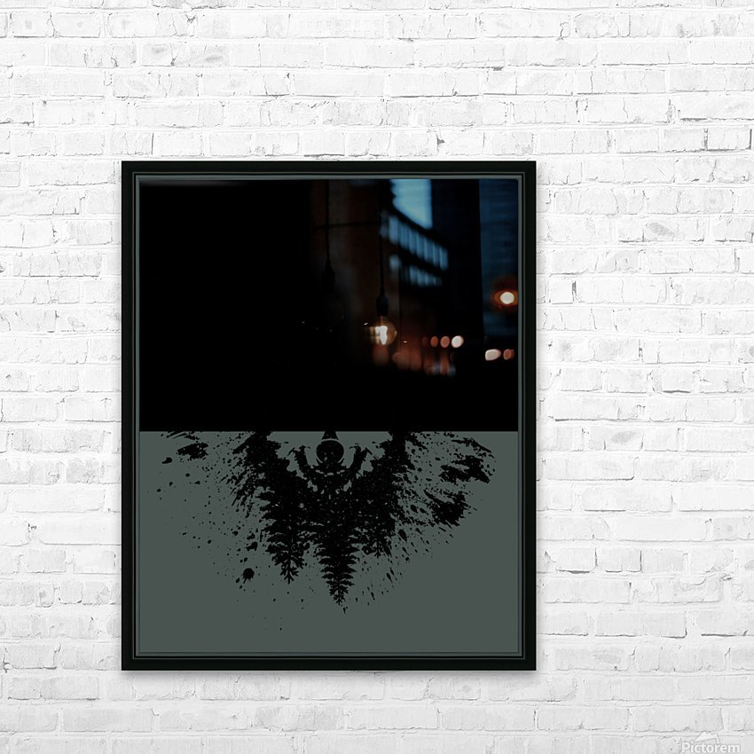 Absract Wolf HD Sublimation Metal print with Decorating Float Frame (BOX)