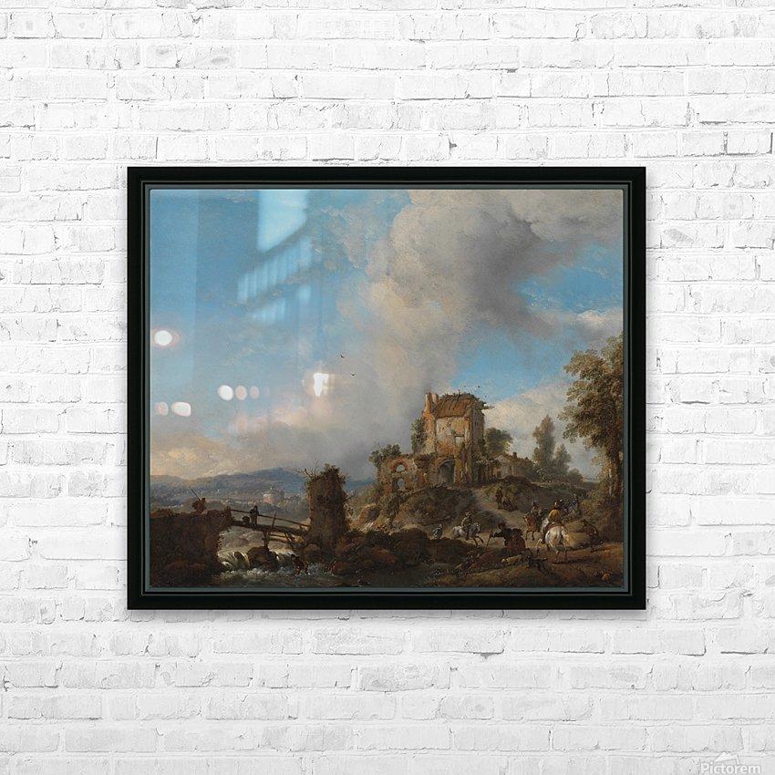 Hertenjacht Rijksmuseum HD Sublimation Metal print with Decorating Float Frame (BOX)