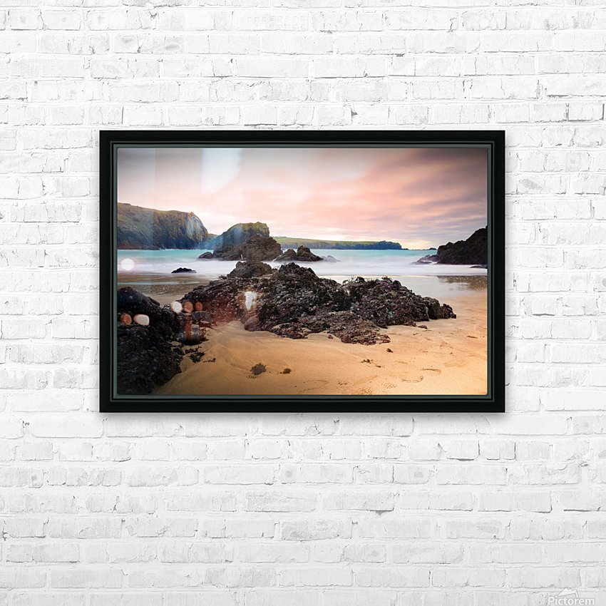 Surreal Stormy Beach Scene HD Sublimation Metal print with Decorating Float Frame (BOX)