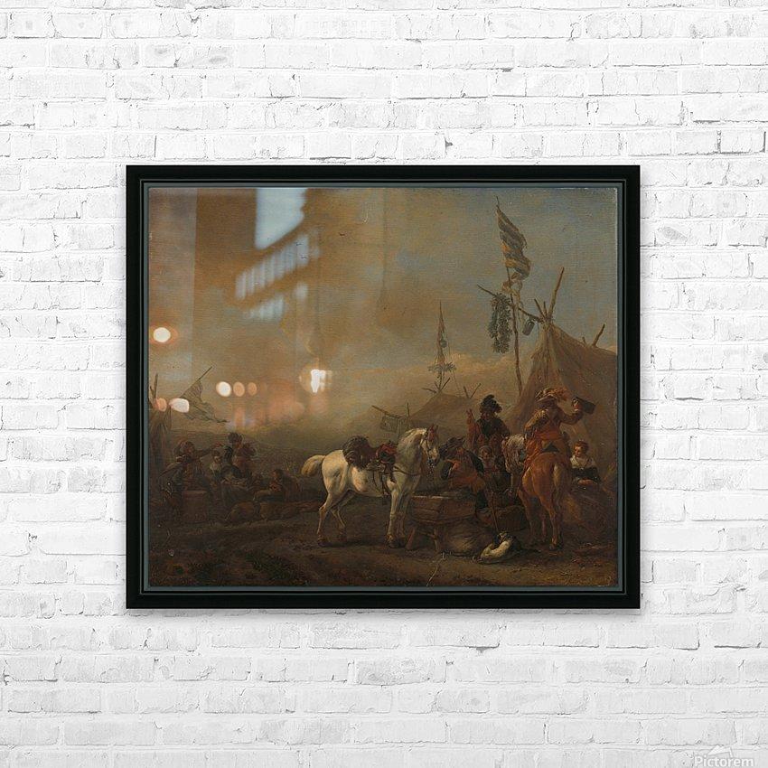 Een legerkamp Rijksmuseum HD Sublimation Metal print with Decorating Float Frame (BOX)