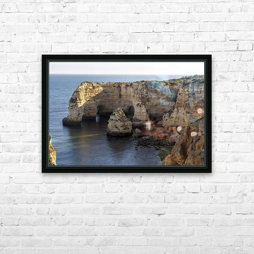 Praia de Marinha HD Sublimation Metal print with Decorating Float Frame (BOX)
