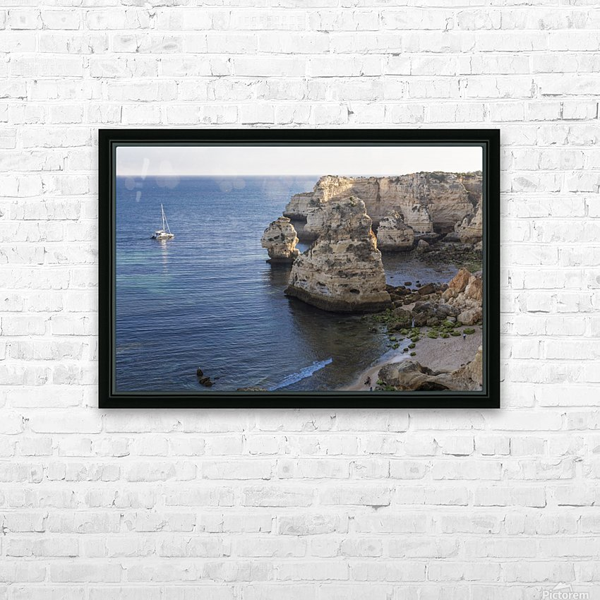 Praia de Marinha HD Sublimation Metal print with Decorating Float Frame (BOX)