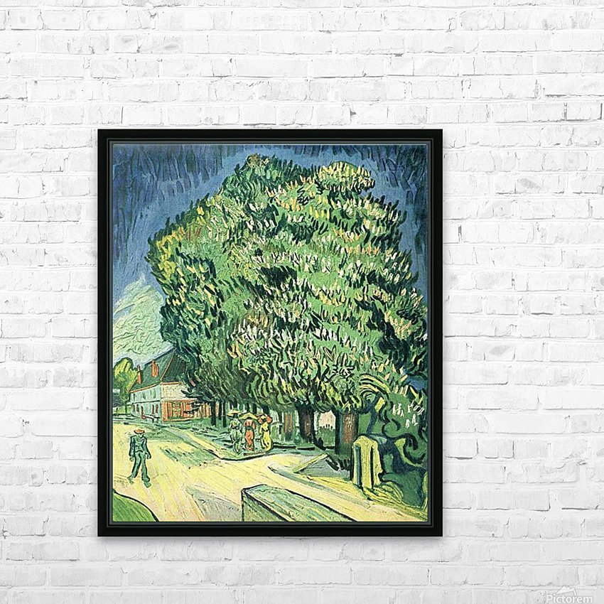 Blossoming chestnut tree by Van Gogh HD Sublimation Metal print with Decorating Float Frame (BOX)