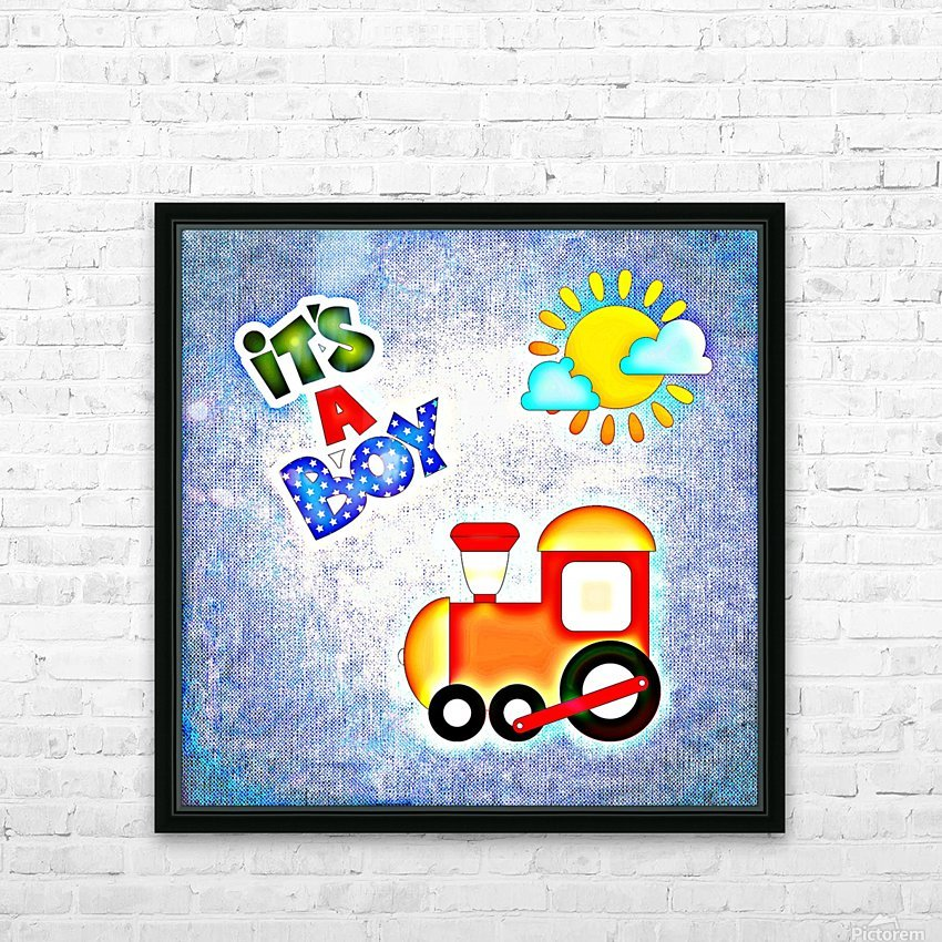 Baby Boy 1_OSG  HD Sublimation Metal print with Decorating Float Frame (BOX)