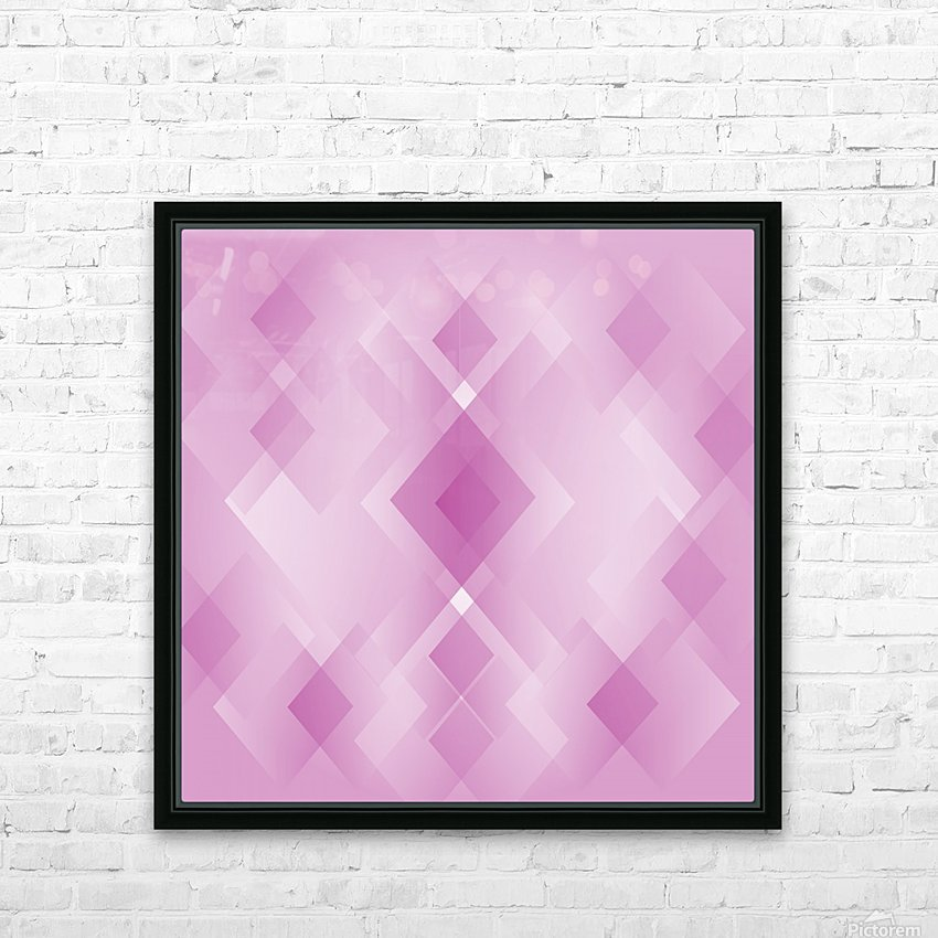 Diamond Shape Pink Art HD Sublimation Metal print with Decorating Float Frame (BOX)