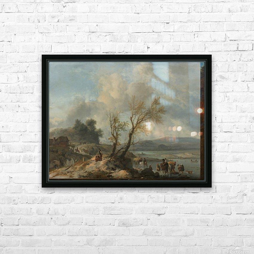 Landschap met zandweg HD Sublimation Metal print with Decorating Float Frame (BOX)
