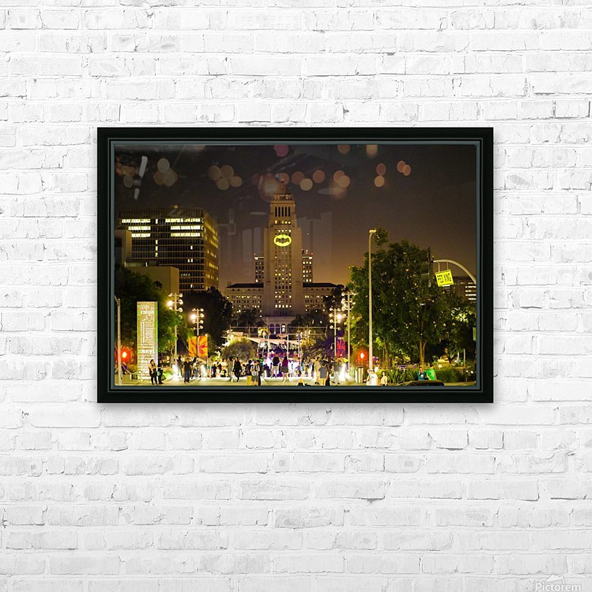 Batman City Hall  HD Sublimation Metal print with Decorating Float Frame (BOX)