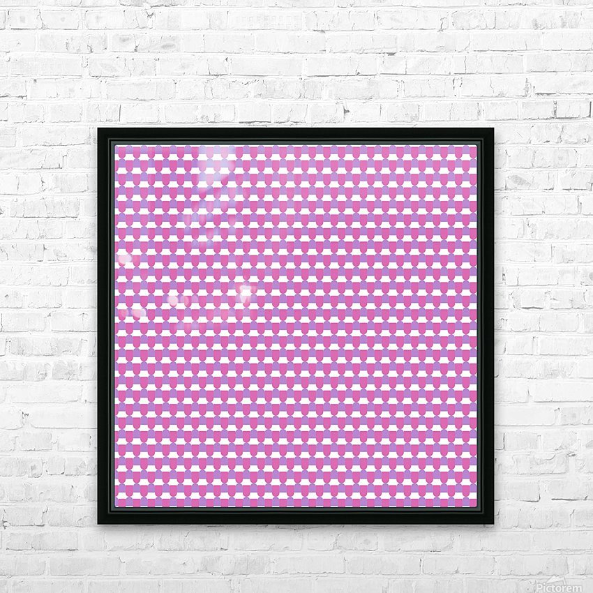 Pink Pattern Artwork HD Sublimation Metal print with Decorating Float Frame (BOX)