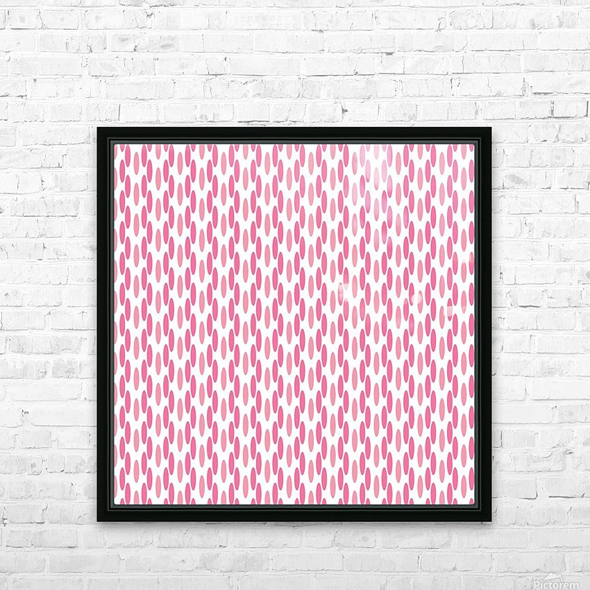 Pink Seamless Pattern Artwork HD Sublimation Metal print with Decorating Float Frame (BOX)
