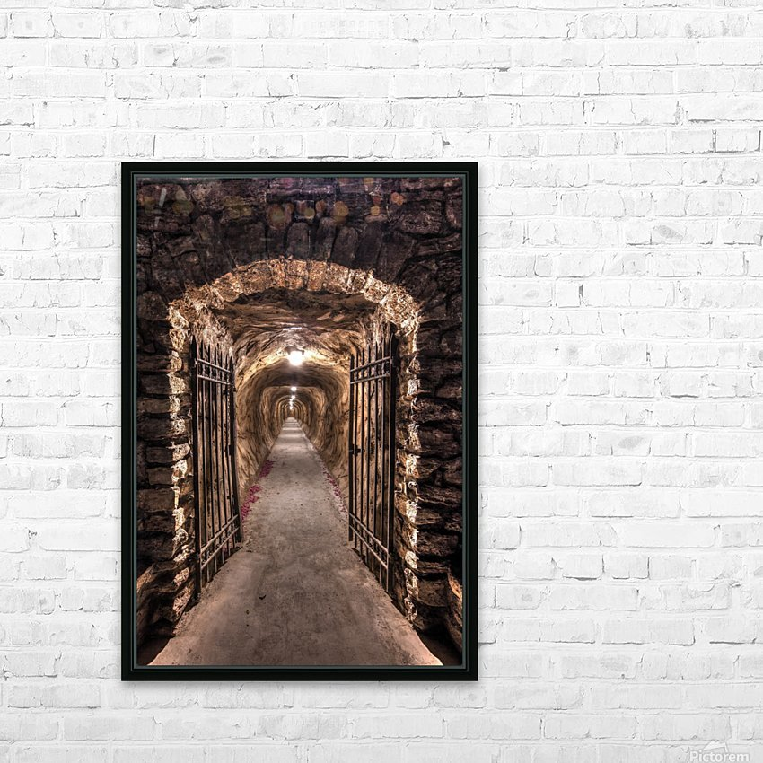 old tunnel HD Sublimation Metal print with Decorating Float Frame (BOX)