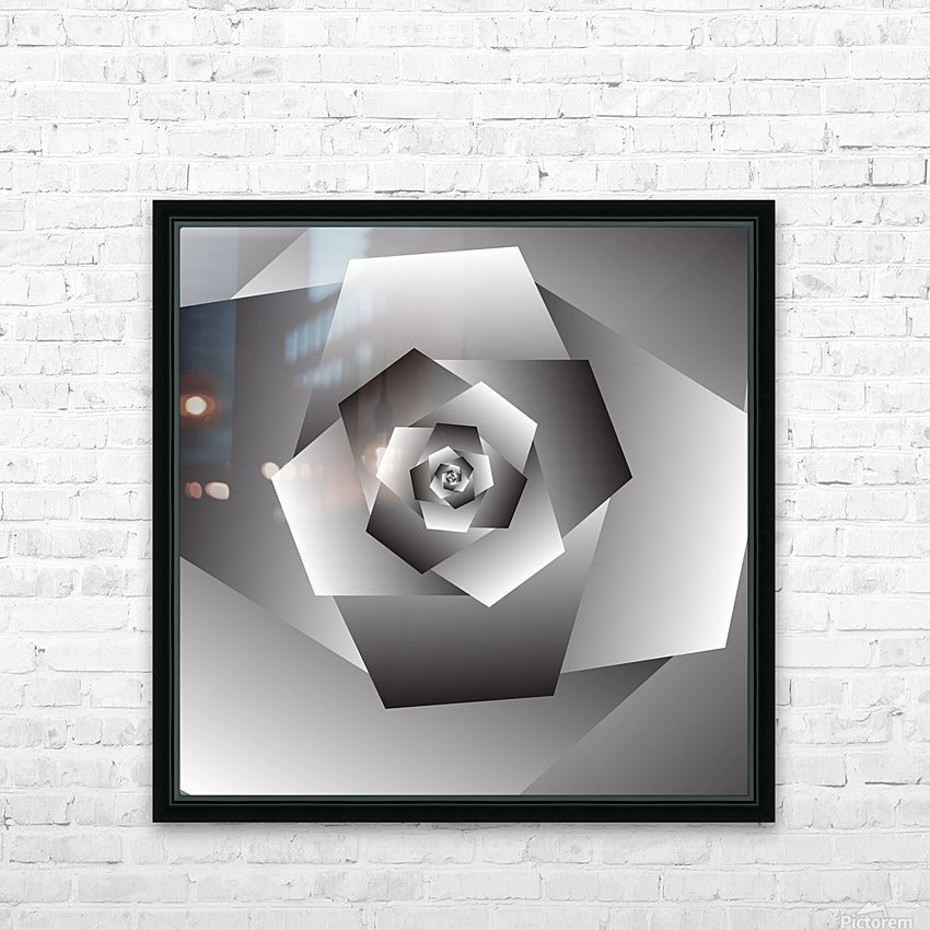 Monochrome Rose Art HD Sublimation Metal print with Decorating Float Frame (BOX)