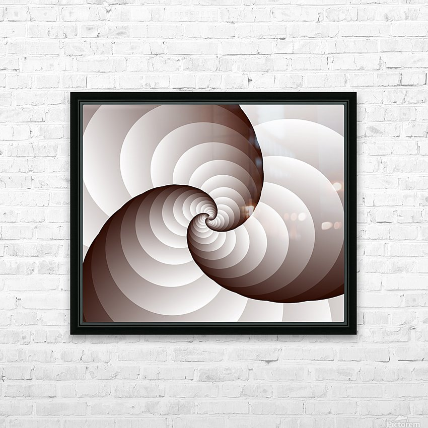 Spirally HD Sublimation Metal print with Decorating Float Frame (BOX)