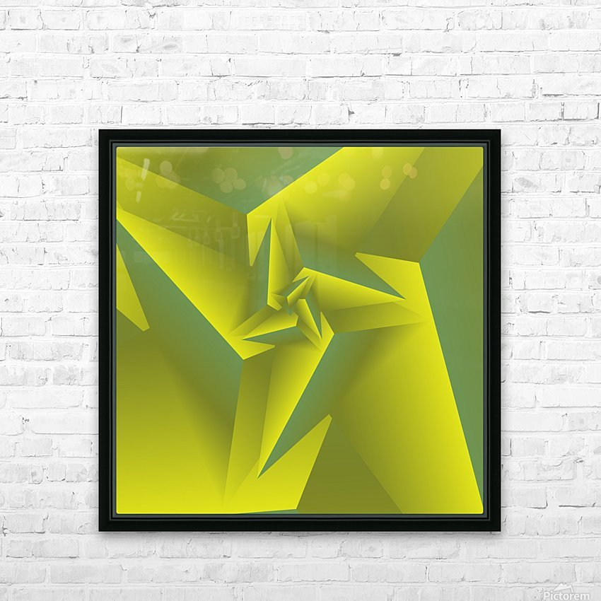 3D Triangle Pattern Art HD Sublimation Metal print with Decorating Float Frame (BOX)