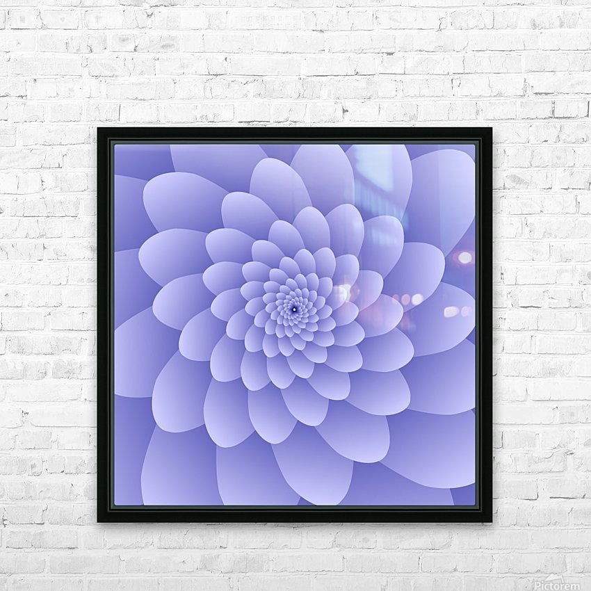 3D Modern Purple  Floral Art HD Sublimation Metal print with Decorating Float Frame (BOX)