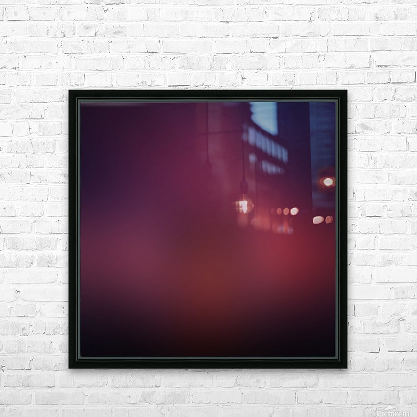 Blurred Red Background HD Sublimation Metal print with Decorating Float Frame (BOX)