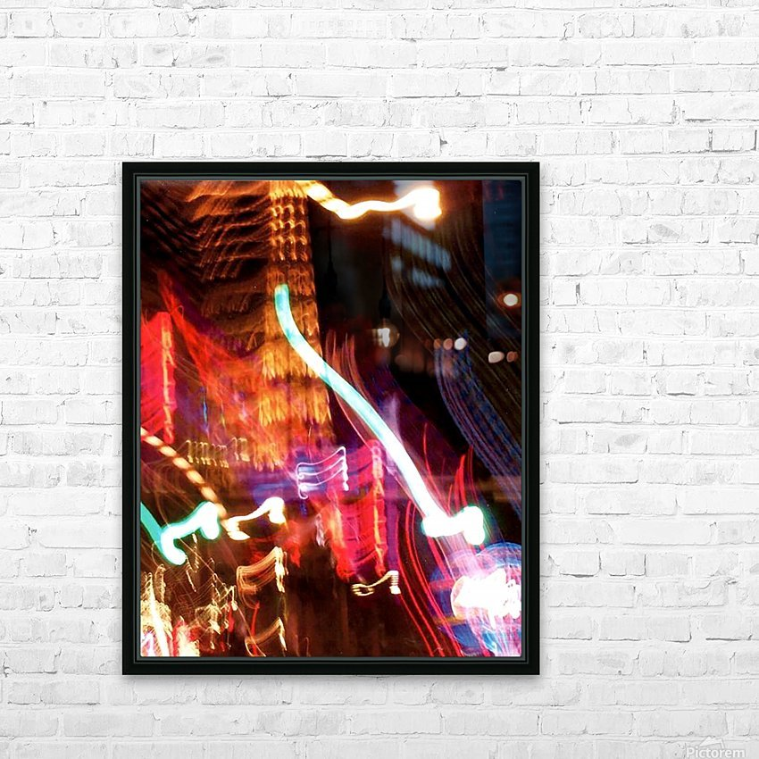 Dancing Light HD Sublimation Metal print with Decorating Float Frame (BOX)