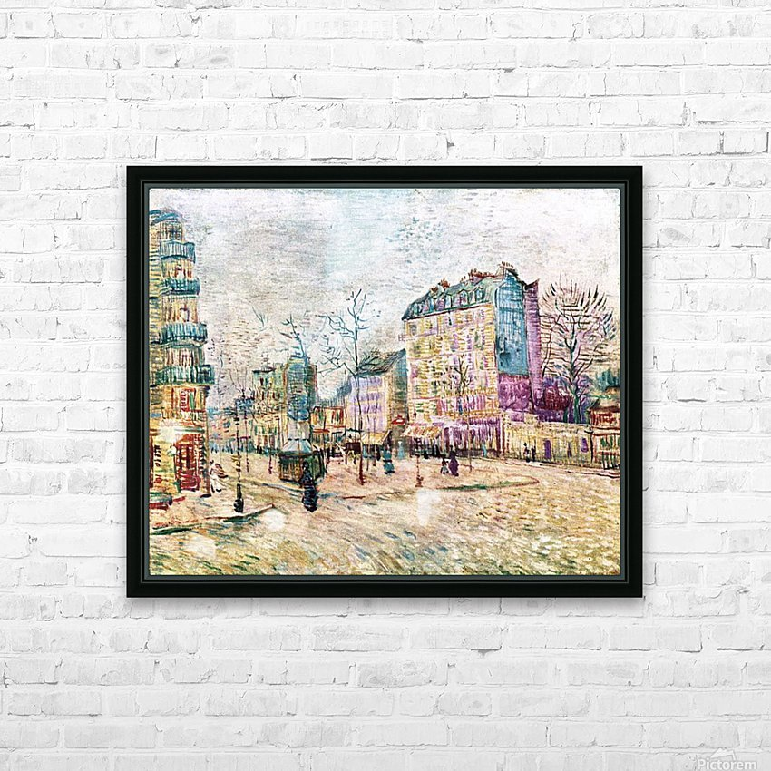 Boulevard de Clichy by Van Gogh HD Sublimation Metal print with Decorating Float Frame (BOX)