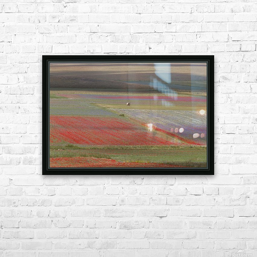 La fioritura di Castelluccio HD Sublimation Metal print with Decorating Float Frame (BOX)
