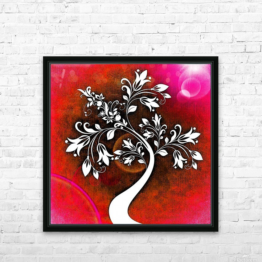 FLOWER TREE 03_OSG HD Sublimation Metal print with Decorating Float Frame (BOX)