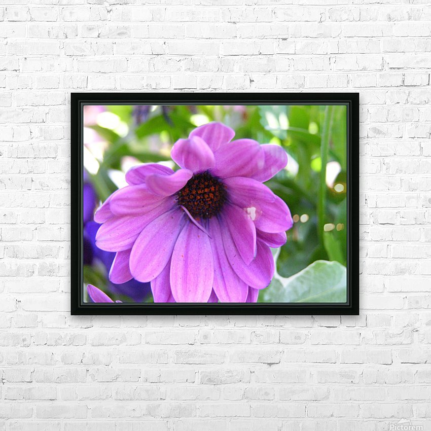 Pink Flower Photography HD Sublimation Metal print with Decorating Float Frame (BOX)