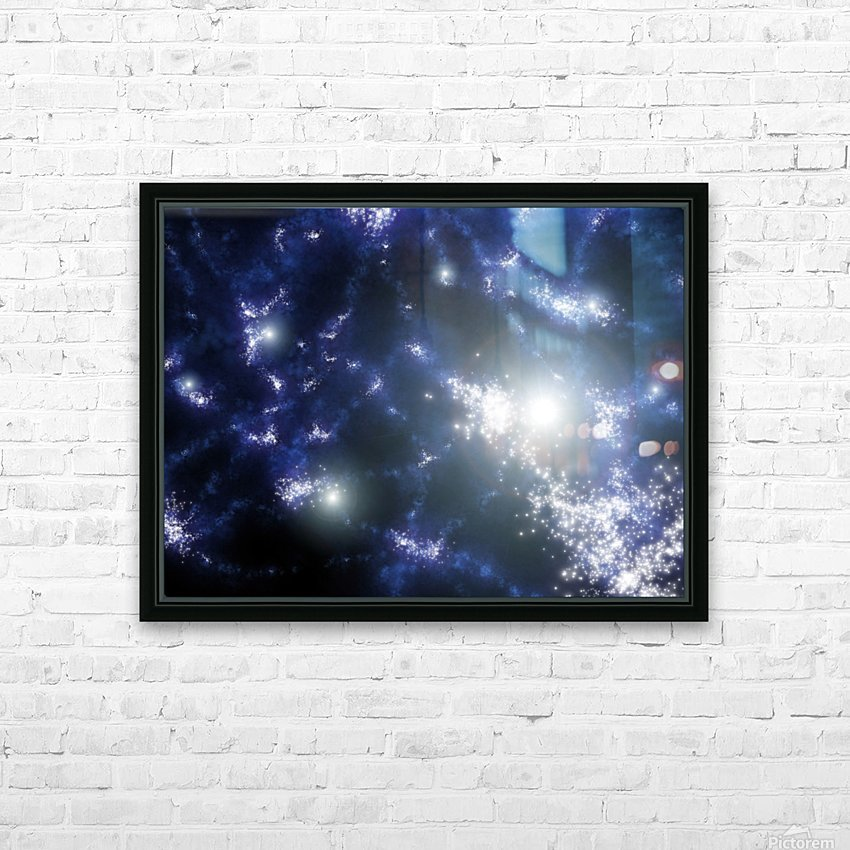 Population III stars clustered together into what will later become galaxies. HD Sublimation Metal print with Decorating Float Frame (BOX)