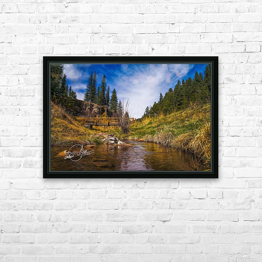 BluffSprings HD Sublimation Metal print with Decorating Float Frame (BOX)