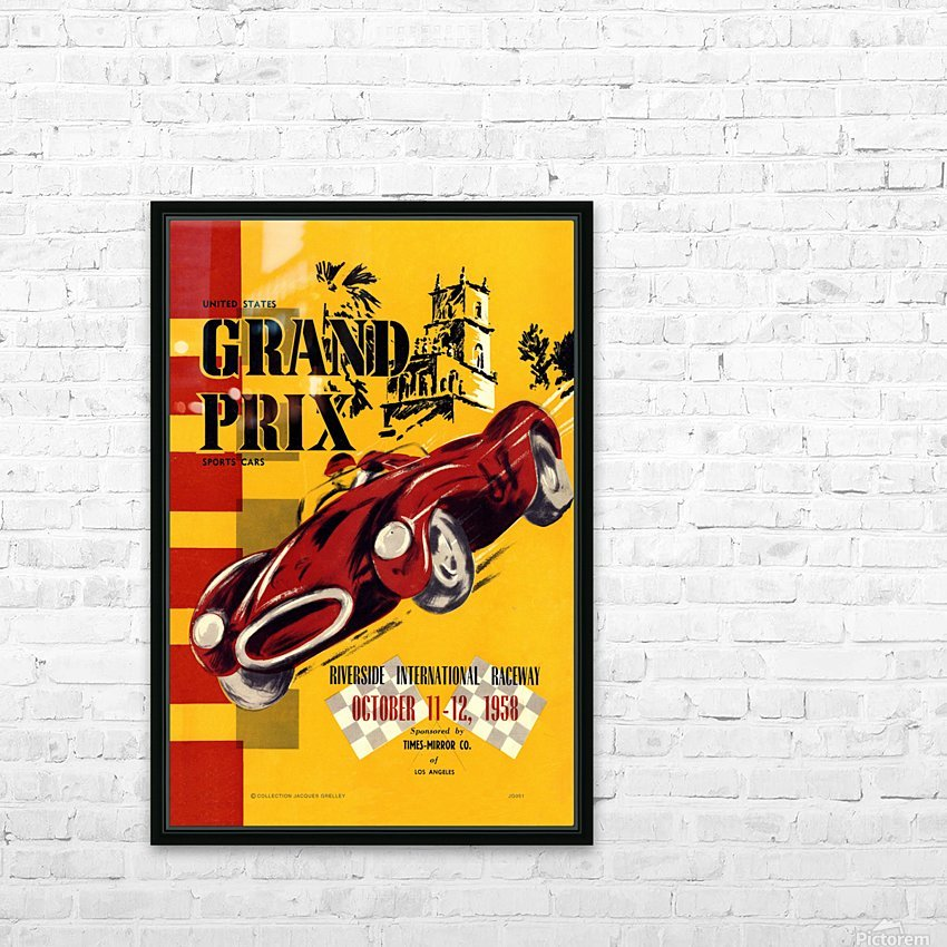 Us Grand Prix Sports Riverside International Raceway 1958 HD Sublimation Metal print with Decorating Float Frame (BOX)