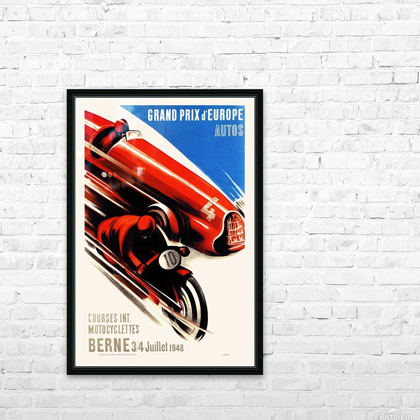 Berne Grand Prix d'Europe Autos 1948 HD Sublimation Metal print with Decorating Float Frame (BOX)