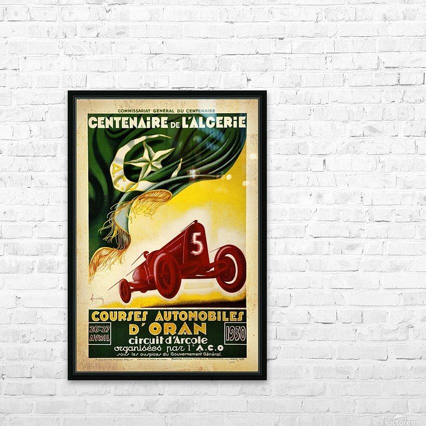 Centenaire L'Algerie Courses Automobiles D'Oran 1930 HD Sublimation Metal print with Decorating Float Frame (BOX)