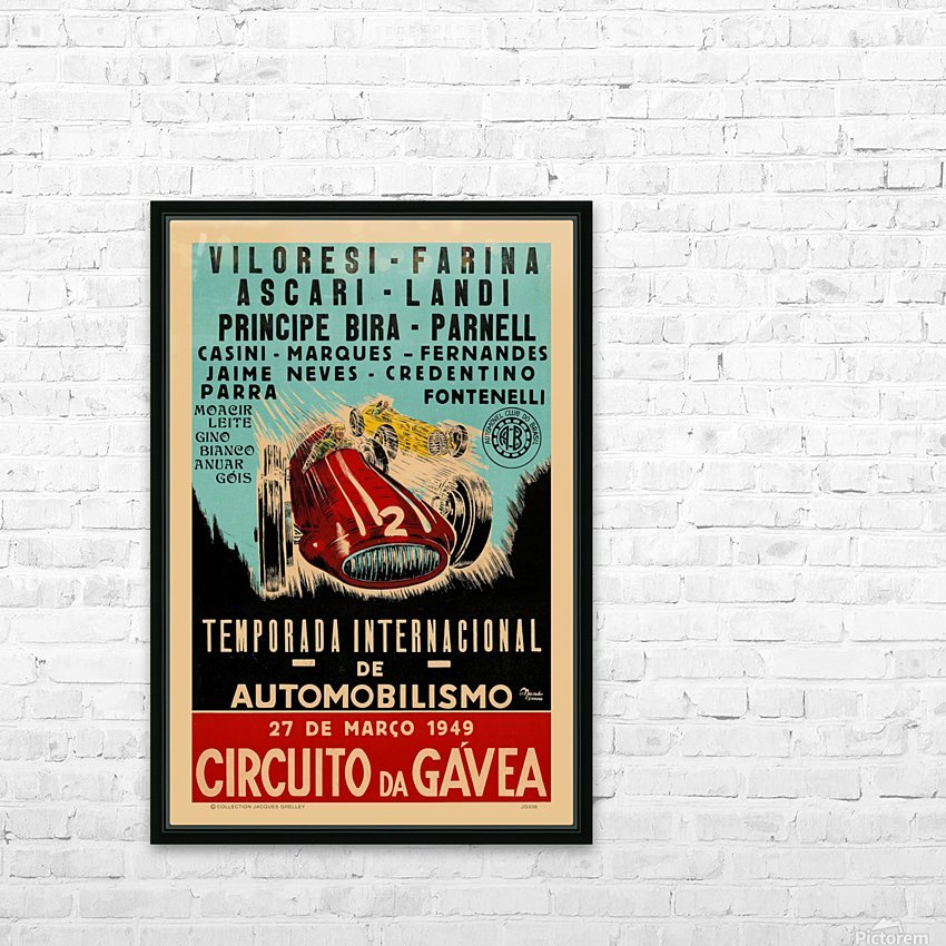 Gavea Circuit Circuito Gavea 1949 Temporada Internacional De Automobilisimo 1949 HD Sublimation Metal print with Decorating Float Frame (BOX)