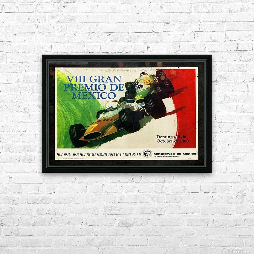Mexico Grand Prix VII Gran Premio De Mexico 1969 HD Sublimation Metal print with Decorating Float Frame (BOX)