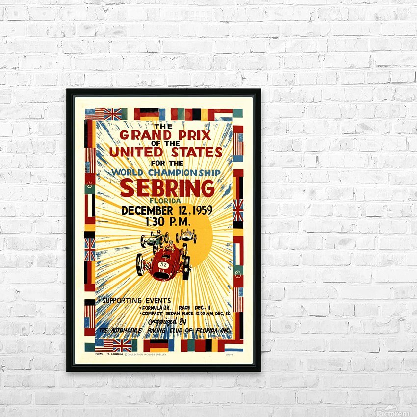 Sebring Us Grand Prix World Championship 1959 HD Sublimation Metal print with Decorating Float Frame (BOX)