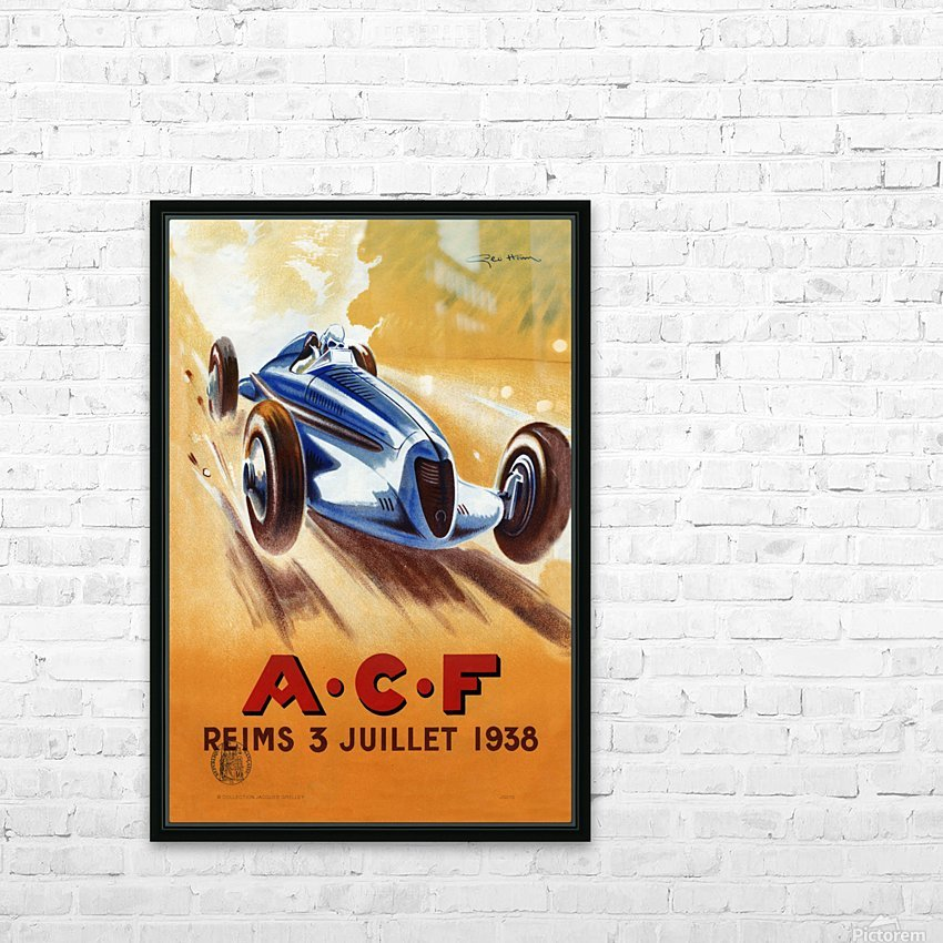ACF Reims 3 Juillet 1938 HD Sublimation Metal print with Decorating Float Frame (BOX)