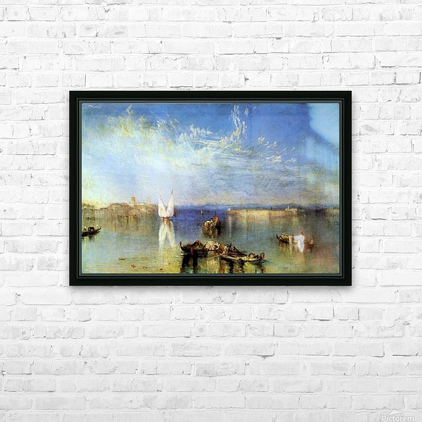 Campo Santo, Venice by Joseph Mallord Turner HD Sublimation Metal print with Decorating Float Frame (BOX)