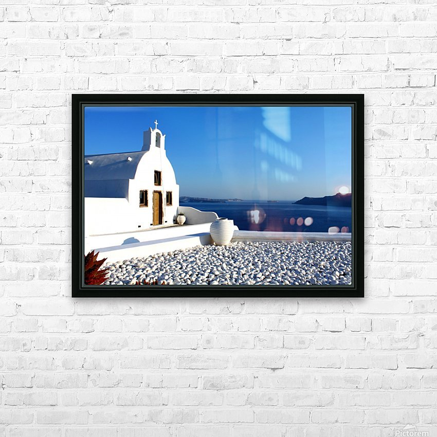 S A N T O R I N I - Greece HD Sublimation Metal print with Decorating Float Frame (BOX)