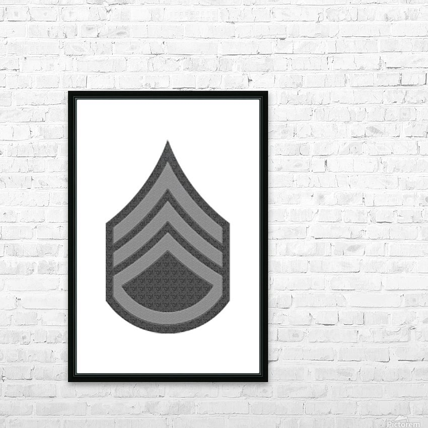 Staff Sergeant HD Sublimation Metal print with Decorating Float Frame (BOX)