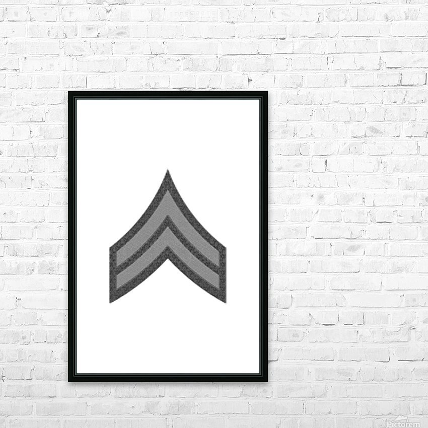 Corporal HD Sublimation Metal print with Decorating Float Frame (BOX)
