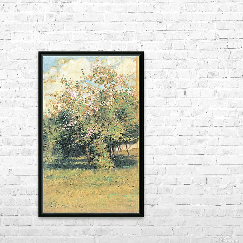 Blooming Trees by Hassam HD Sublimation Metal print with Decorating Float Frame (BOX)
