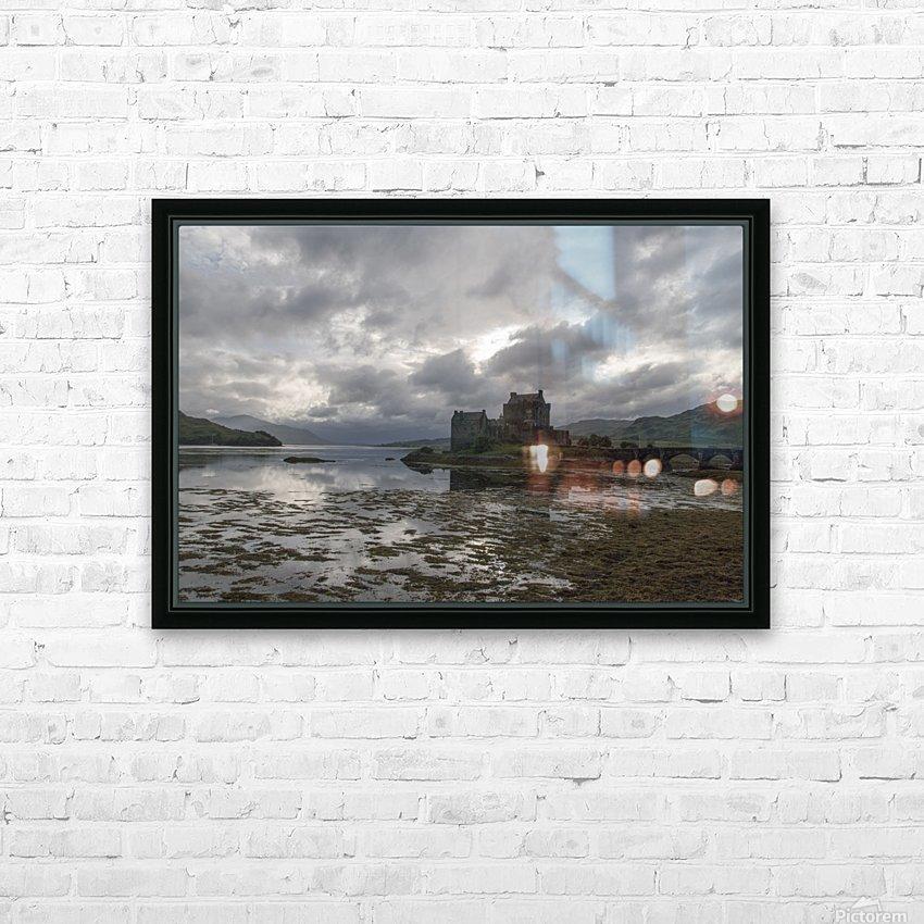 Eilean Donan Castle HD Sublimation Metal print with Decorating Float Frame (BOX)