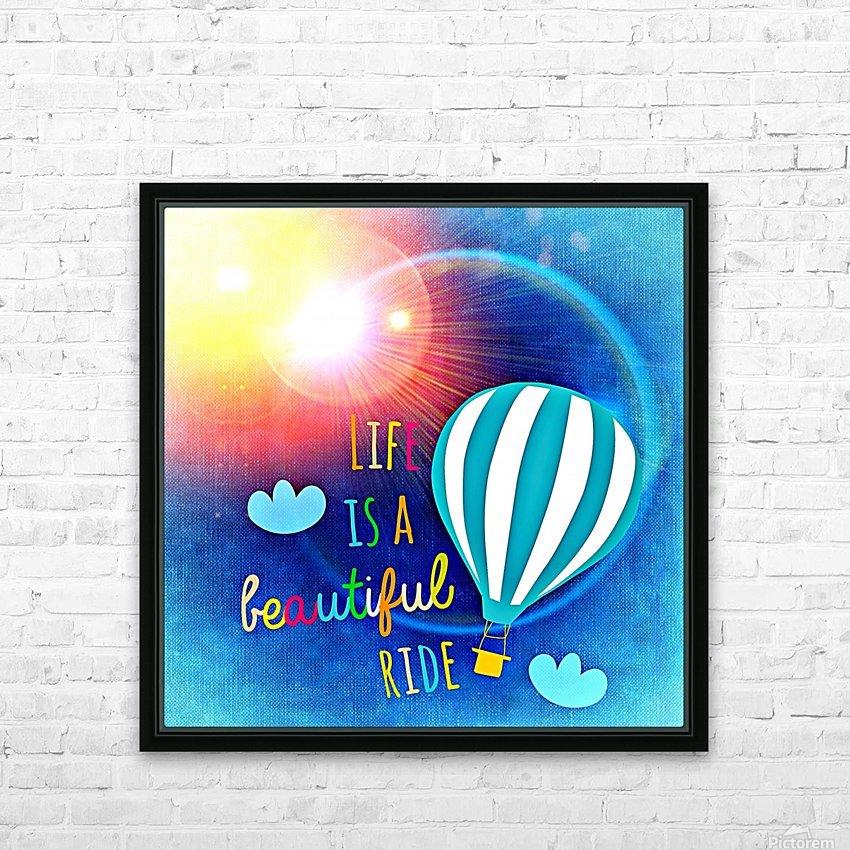 Beautiful Life 01_OSG HD sublimation métal imprimé avec décoration flotteur cadre (boîte)