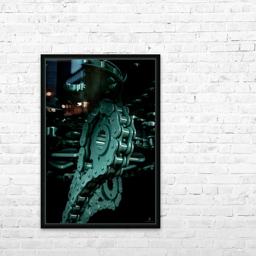 Tiffany chain HD Sublimation Metal print with Decorating Float Frame (BOX)