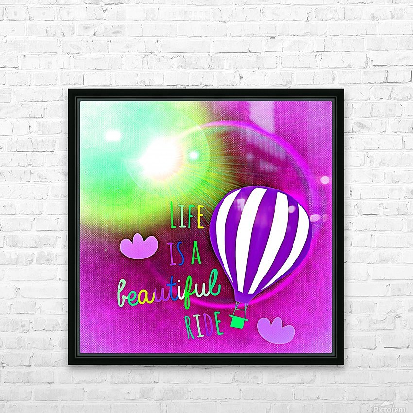 Beautiful Life 05_OSG HD Sublimation Metal print with Decorating Float Frame (BOX)