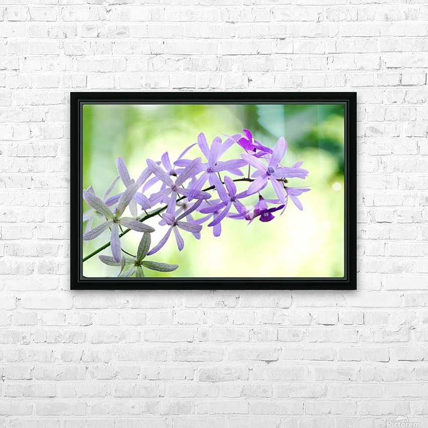 Purple orchid HD Sublimation Metal print with Decorating Float Frame (BOX)