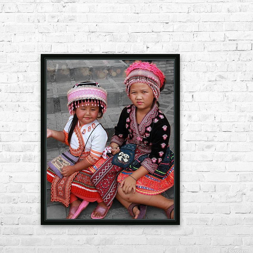 Thai Girls HD Sublimation Metal print with Decorating Float Frame (BOX)