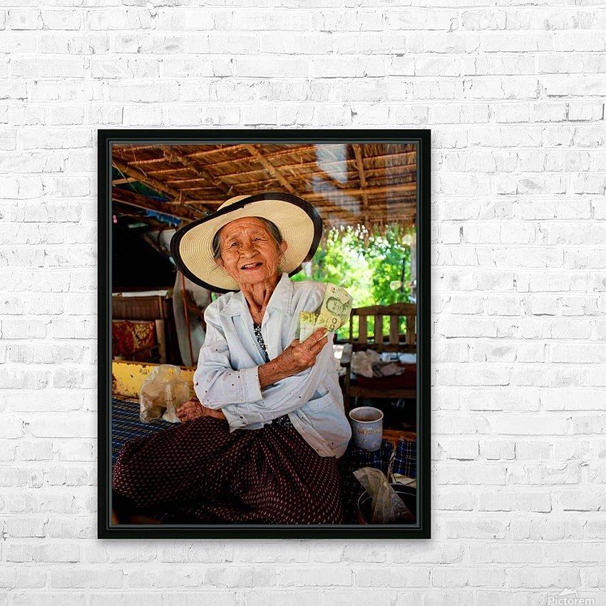 Thai Grandma HD Sublimation Metal print with Decorating Float Frame (BOX)